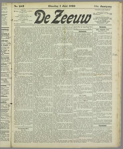 De Zeeuw. Christelijk-historisch nieuwsblad voor Zeeland 1920-06-01