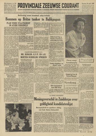 Provinciale Zeeuwse Courant 1958-04-29