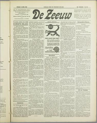 De Zeeuw. Christelijk-historisch nieuwsblad voor Zeeland 1934-04-13