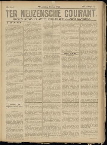 Ter Neuzensche Courant. Algemeen Nieuws- en Advertentieblad voor Zeeuwsch-Vlaanderen / Neuzensche Courant ... (idem) / (Algemeen) nieuws en advertentieblad voor Zeeuwsch-Vlaanderen 1923-05-02