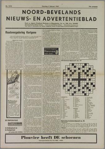 Noord-Bevelands Nieuws- en advertentieblad 1967-02-04