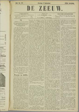 De Zeeuw. Christelijk-historisch nieuwsblad voor Zeeland 1891-09-08