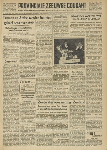 Provinciale Zeeuwse Courant 1950-12-09