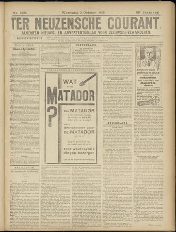 Ter Neuzensche Courant. Algemeen Nieuws- en Advertentieblad voor Zeeuwsch-Vlaanderen / Neuzensche Courant ... (idem) / (Algemeen) nieuws en advertentieblad voor Zeeuwsch-Vlaanderen 1928-10-03