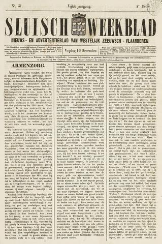 Sluisch Weekblad. Nieuws- en advertentieblad voor Westelijk Zeeuwsch-Vlaanderen 1864-12-16