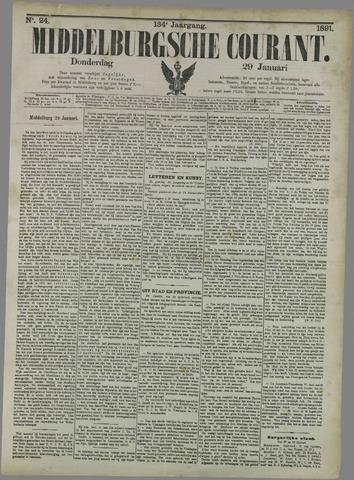 Middelburgsche Courant 1891-01-29