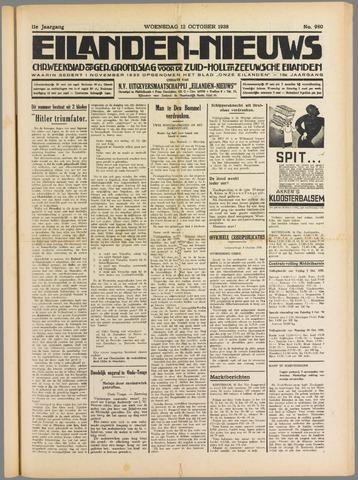 Eilanden-nieuws. Christelijk streekblad op gereformeerde grondslag 1938-10-12