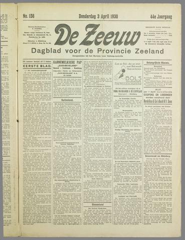 De Zeeuw. Christelijk-historisch nieuwsblad voor Zeeland 1930-04-03