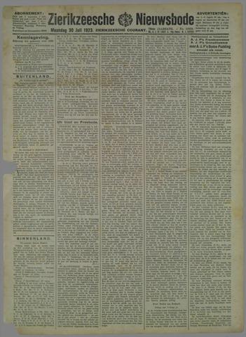 Zierikzeesche Nieuwsbode 1923-07-30