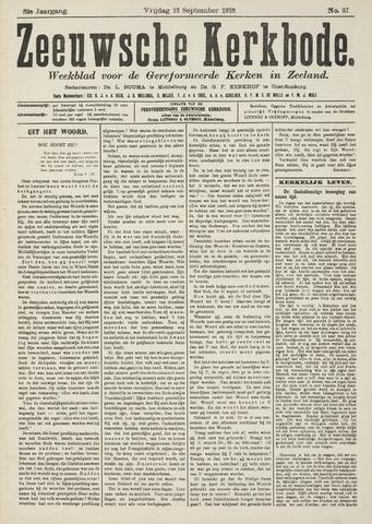 Zeeuwsche kerkbode, weekblad gewijd aan de belangen der gereformeerde kerken/ Zeeuwsch kerkblad 1918-09-13
