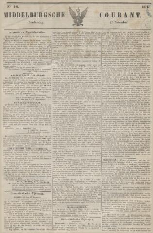 Middelburgsche Courant 1851-11-27