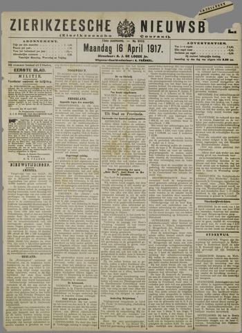 Zierikzeesche Nieuwsbode 1917-04-16