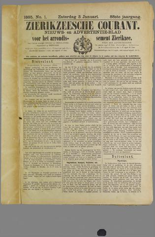 Zierikzeesche Courant 1885