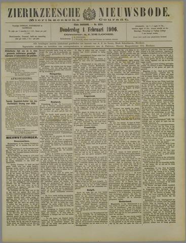 Zierikzeesche Nieuwsbode 1906-02-01