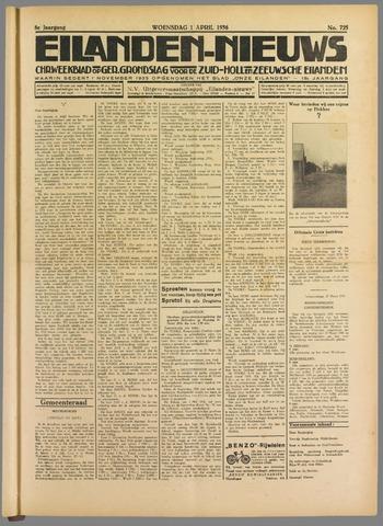 Eilanden-nieuws. Christelijk streekblad op gereformeerde grondslag 1936-04-01