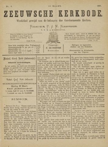 Zeeuwsche kerkbode, weekblad gewijd aan de belangen der gereformeerde kerken/ Zeeuwsch kerkblad 1887-03-26