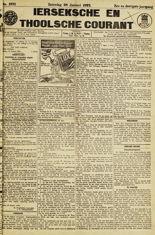 Ierseksche en Thoolsche Courant 1922-01-28