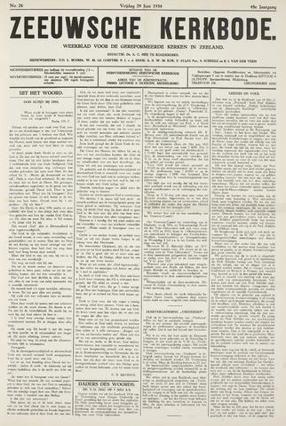 Zeeuwsche kerkbode, weekblad gewijd aan de belangen der gereformeerde kerken/ Zeeuwsch kerkblad 1934-06-29