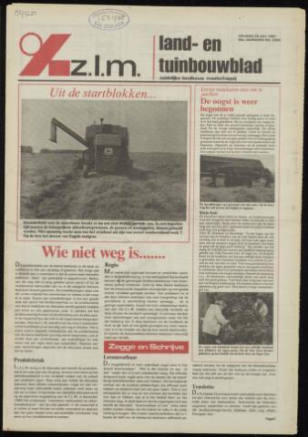 Zeeuwsch landbouwblad ... ZLM land- en tuinbouwblad 1981-07-24