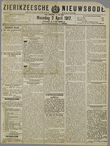 Zierikzeesche Nieuwsbode 1917-04-02