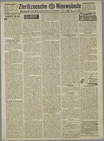 Zierikzeesche Nieuwsbode 1925-02-23