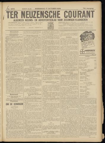Ter Neuzensche Courant. Algemeen Nieuws- en Advertentieblad voor Zeeuwsch-Vlaanderen / Neuzensche Courant ... (idem) / (Algemeen) nieuws en advertentieblad voor Zeeuwsch-Vlaanderen 1934-10-17
