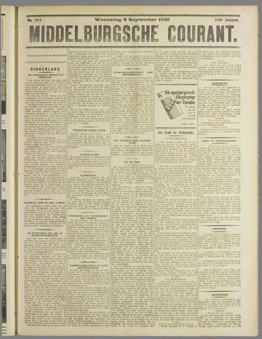 Middelburgsche Courant 1925-09-09