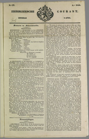 Zierikzeesche Courant 1844-04-02