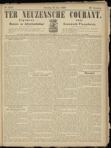 Ter Neuzensche Courant. Algemeen Nieuws- en Advertentieblad voor Zeeuwsch-Vlaanderen / Neuzensche Courant ... (idem) / (Algemeen) nieuws en advertentieblad voor Zeeuwsch-Vlaanderen 1890-06-21