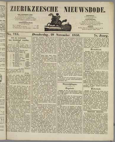 Zierikzeesche Nieuwsbode 1850-11-28