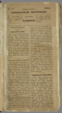 Zierikzeesche Nieuwsbode 1844-08-19