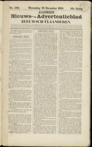 Ter Neuzensche Courant. Algemeen Nieuws- en Advertentieblad voor Zeeuwsch-Vlaanderen / Neuzensche Courant ... (idem) / (Algemeen) nieuws en advertentieblad voor Zeeuwsch-Vlaanderen 1865-12-20