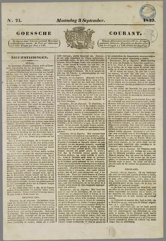 Goessche Courant 1849-09-03