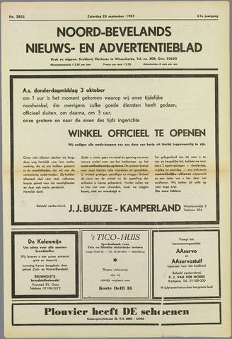 Noord-Bevelands Nieuws- en advertentieblad 1957-09-28