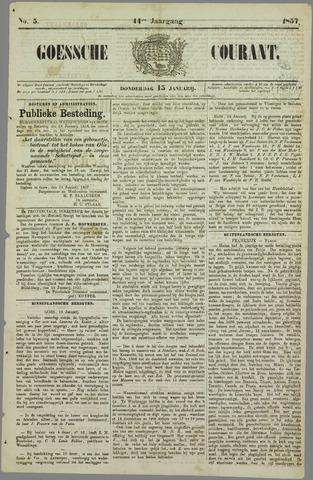 Goessche Courant 1857-01-15