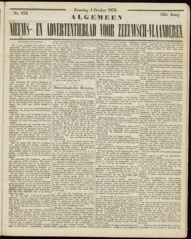 Ter Neuzensche Courant. Algemeen Nieuws- en Advertentieblad voor Zeeuwsch-Vlaanderen / Neuzensche Courant ... (idem) / (Algemeen) nieuws en advertentieblad voor Zeeuwsch-Vlaanderen 1873-10-04
