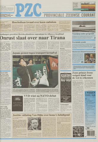 Provinciale Zeeuwse Courant 1997-03-13