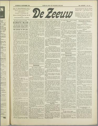 De Zeeuw. Christelijk-historisch nieuwsblad voor Zeeland 1934-09-22