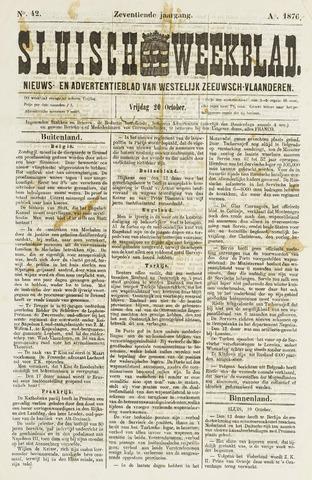 Sluisch Weekblad. Nieuws- en advertentieblad voor Westelijk Zeeuwsch-Vlaanderen 1876-10-20