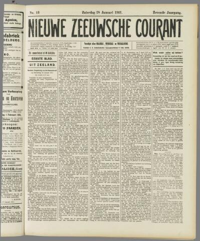 Nieuwe Zeeuwsche Courant 1911-01-28