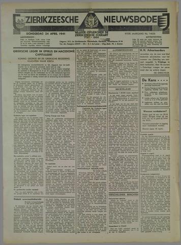 Zierikzeesche Nieuwsbode 1941-04-24