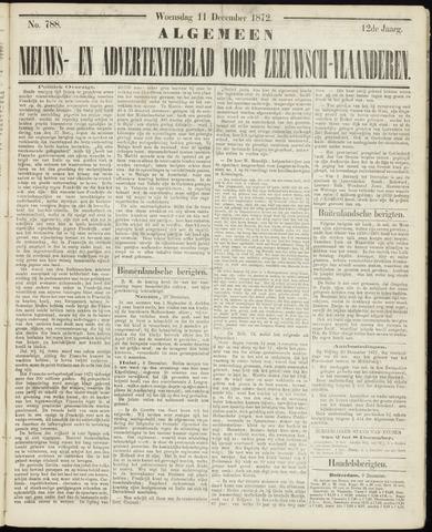 Ter Neuzensche Courant. Algemeen Nieuws- en Advertentieblad voor Zeeuwsch-Vlaanderen / Neuzensche Courant ... (idem) / (Algemeen) nieuws en advertentieblad voor Zeeuwsch-Vlaanderen 1872-12-11
