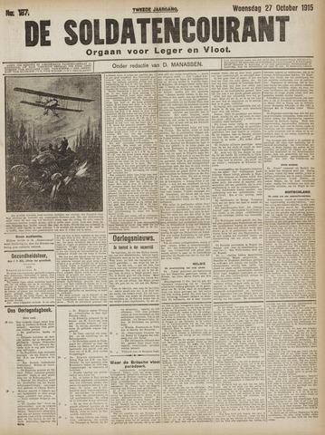 De Soldatencourant. Orgaan voor Leger en Vloot 1915-10-27