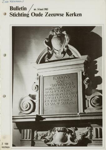 Bulletin Stichting Oude Zeeuwse kerken 1985