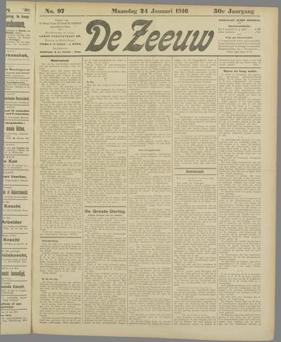 De Zeeuw. Christelijk-historisch nieuwsblad voor Zeeland 1916-01-24