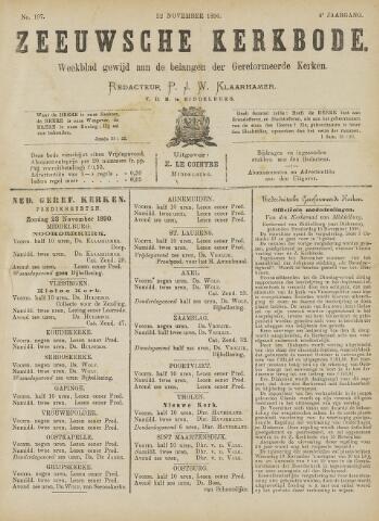 Zeeuwsche kerkbode, weekblad gewijd aan de belangen der gereformeerde kerken/ Zeeuwsch kerkblad 1890-11-22