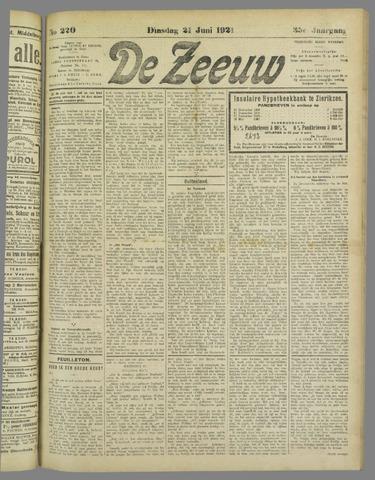 De Zeeuw. Christelijk-historisch nieuwsblad voor Zeeland 1921-06-21