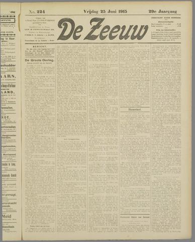 De Zeeuw. Christelijk-historisch nieuwsblad voor Zeeland 1915-06-25