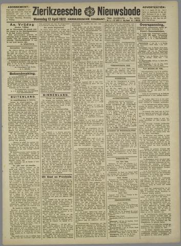 Zierikzeesche Nieuwsbode 1922-04-12