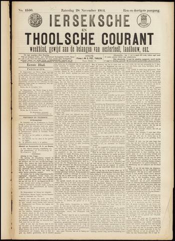 Ierseksche en Thoolsche Courant 1914-11-28